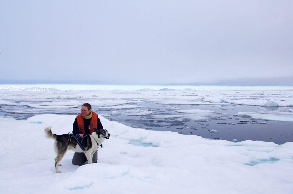 Michelle in Spitsbergen