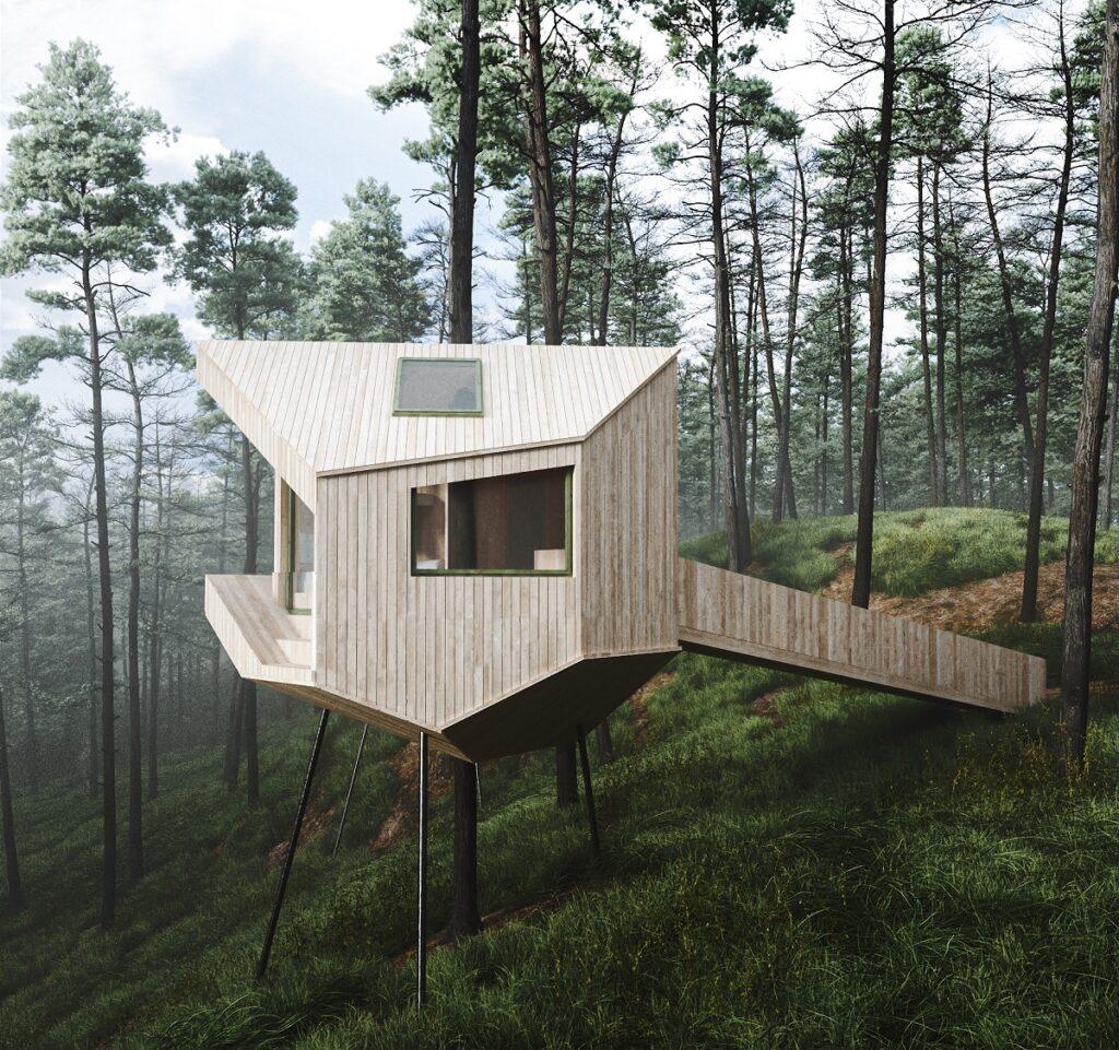 boomhut in Noorwegen